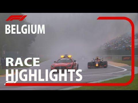 F1 2021 Belgian Grand Prix  Race Highlights  Rain