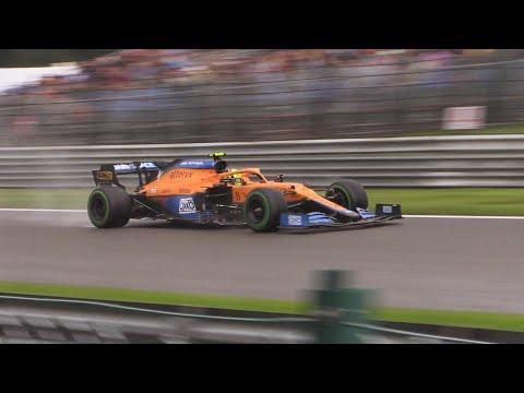 F1 Belgian Grand Prix Spa 2021  Hybrid F1 Sound In The Wet