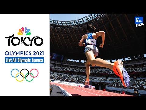 Tokyo Olympics 2021 Game List  Olympics 2021