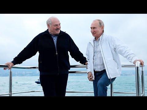 Путин И Лукашенко Встретились В Черном Море На Президентской Яхте
