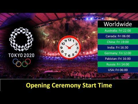 Tokyo Olympics 2021 Opening Ceremony Start Time Worldwide