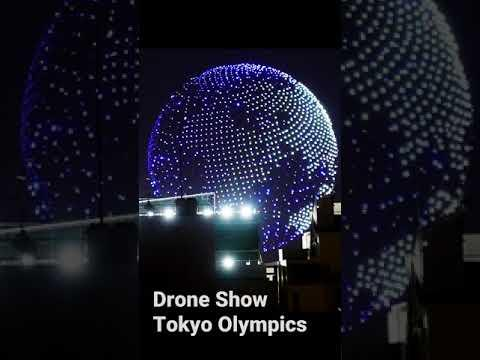 Tokyo Olympics Drone Show Preview Of Opening Ceremonies